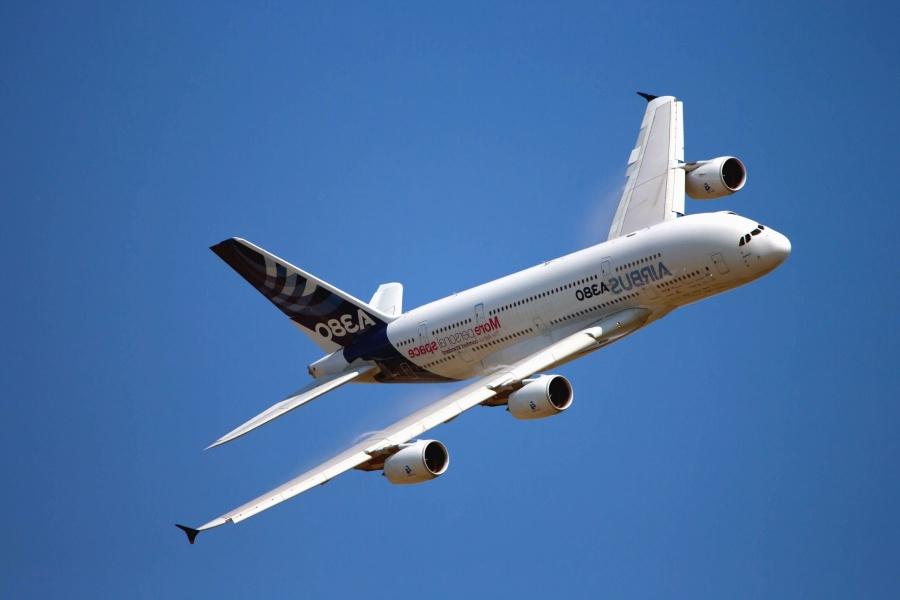 flygplan, flygning, jet, Resor, blå himmel, fordon