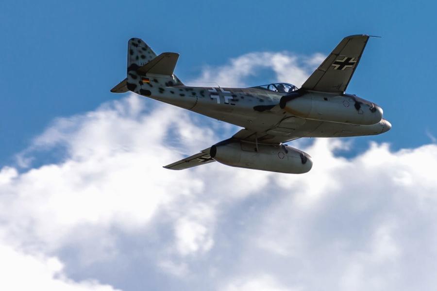 avion, jet, povijesni, ratni avion, vojni, nebo, oblak