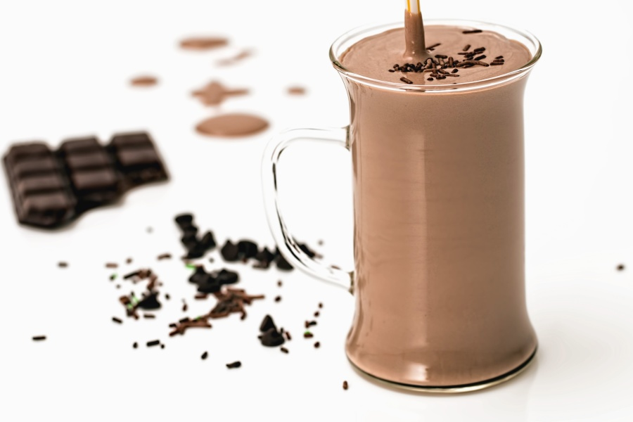 glass, drink, chocolate, milk, cocoa, black