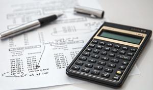 계산기, 펜, 종이, 금융, 비즈니스, 경제, 기술