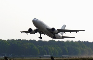 aeroplane, jet, takeoff, travel, traveler, forest, sky, airport