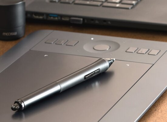 Lápiz, ordenador portátil, tecnología, negocio, botón, electrónica, escritorio