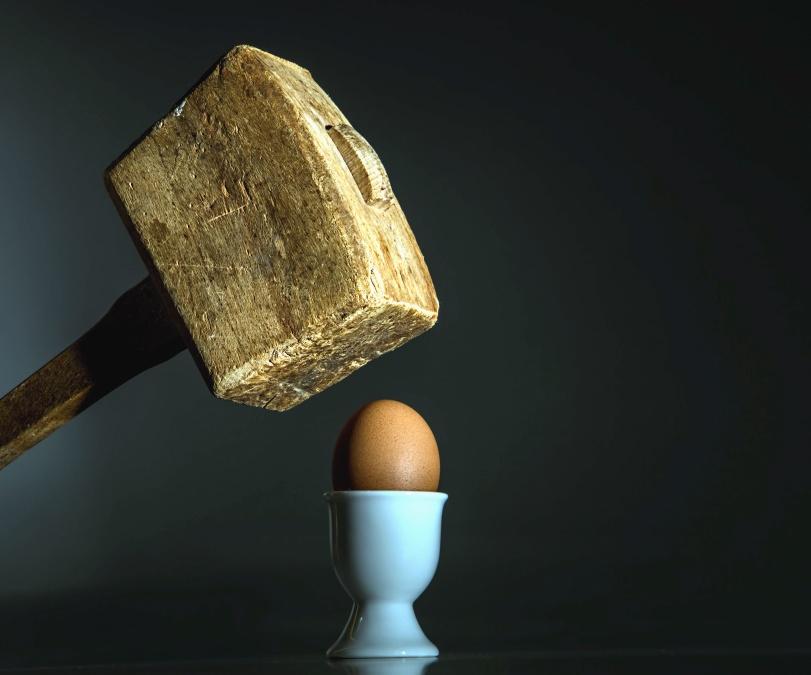 jaje, držač, čekić, hrana, drvo