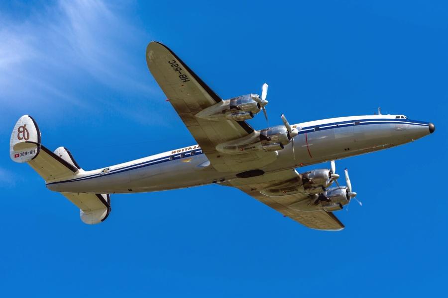 Avion, hélice, transport, véhicule, ciel, voyage