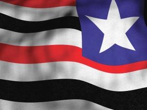 vlag, embleem, kleur, zwart, rood, ster