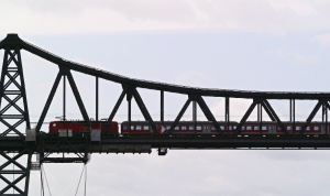bridge, structure, architecture, train, locomotive, transport, vehicle