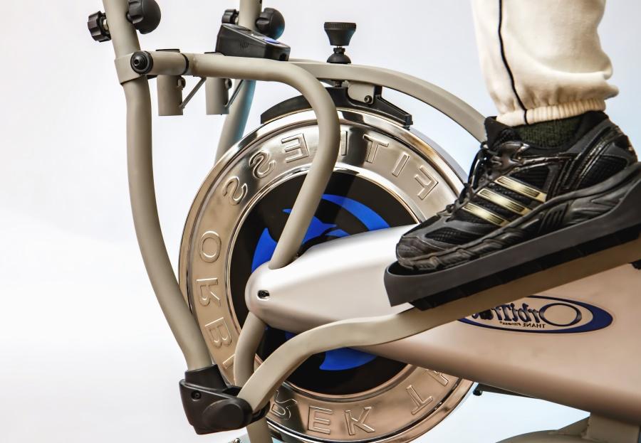 피트 니스, 운동, 자전거, 다리, 신발, 체육관