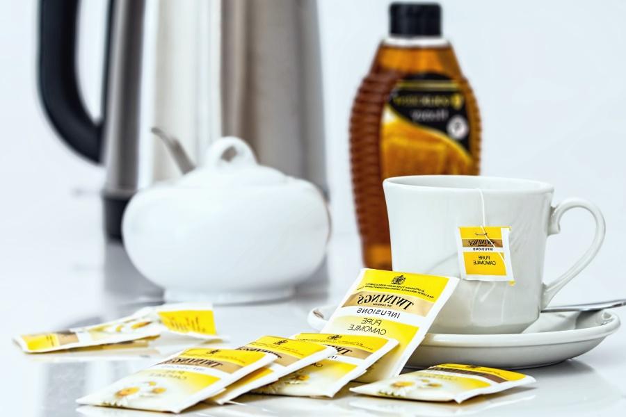 čaj, šalica, piće, medicina, papir, filtar, žlicu