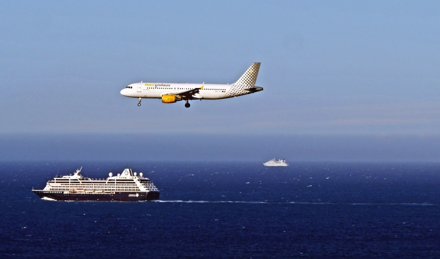 aeroplane, travel, cruiser, sea, water, summer, vacation
