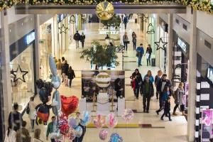 Natale, persone, negozio, vacanza, decorazione, palloncino