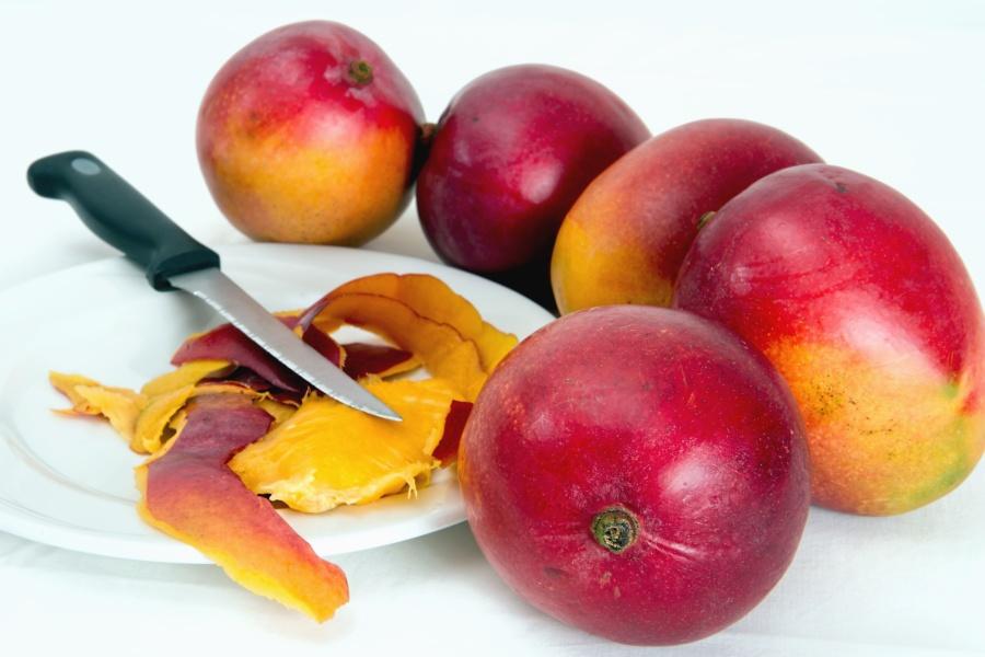 Melocotón, fruta, alimento, orgánico, dulce, cuchillo, concha