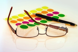 eyeglasses, colors, pencil, reflection, diopter