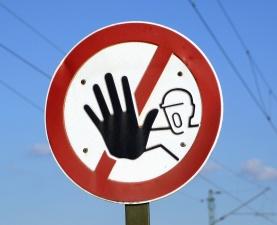 sign, warning, metal, street, traffic sign