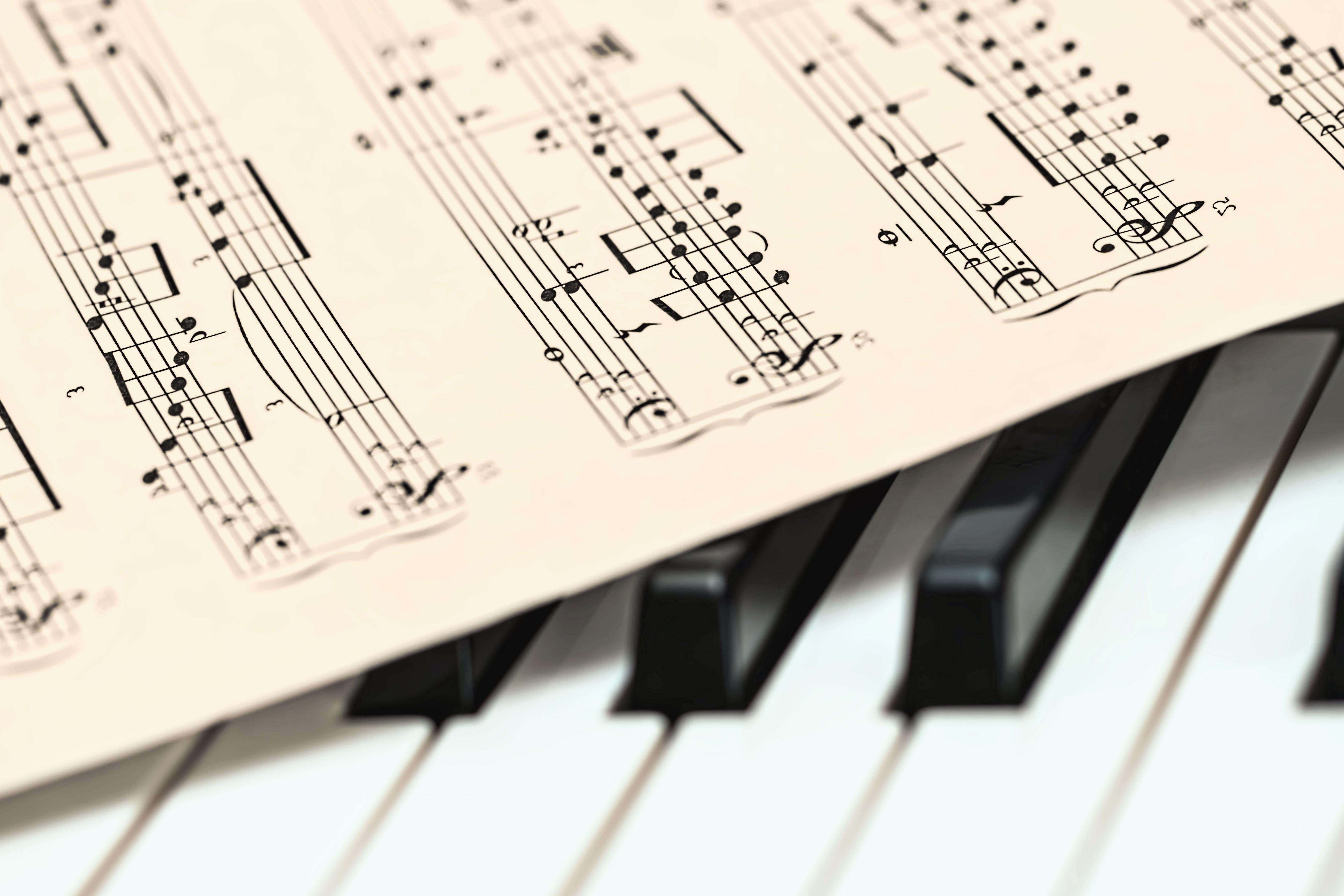 Kostenlose Bild: Papier, anmerkung, komposition, klavier, musik ...