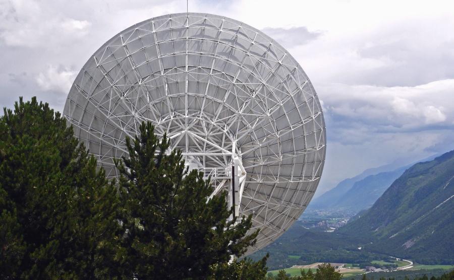 antenne, satelliet, ruimte, communicatie, technologie, bouw, berg