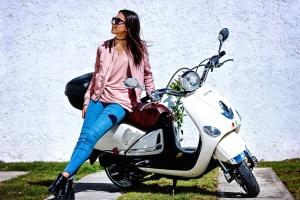 girl, motor, photo model, vehicle, sunglasses