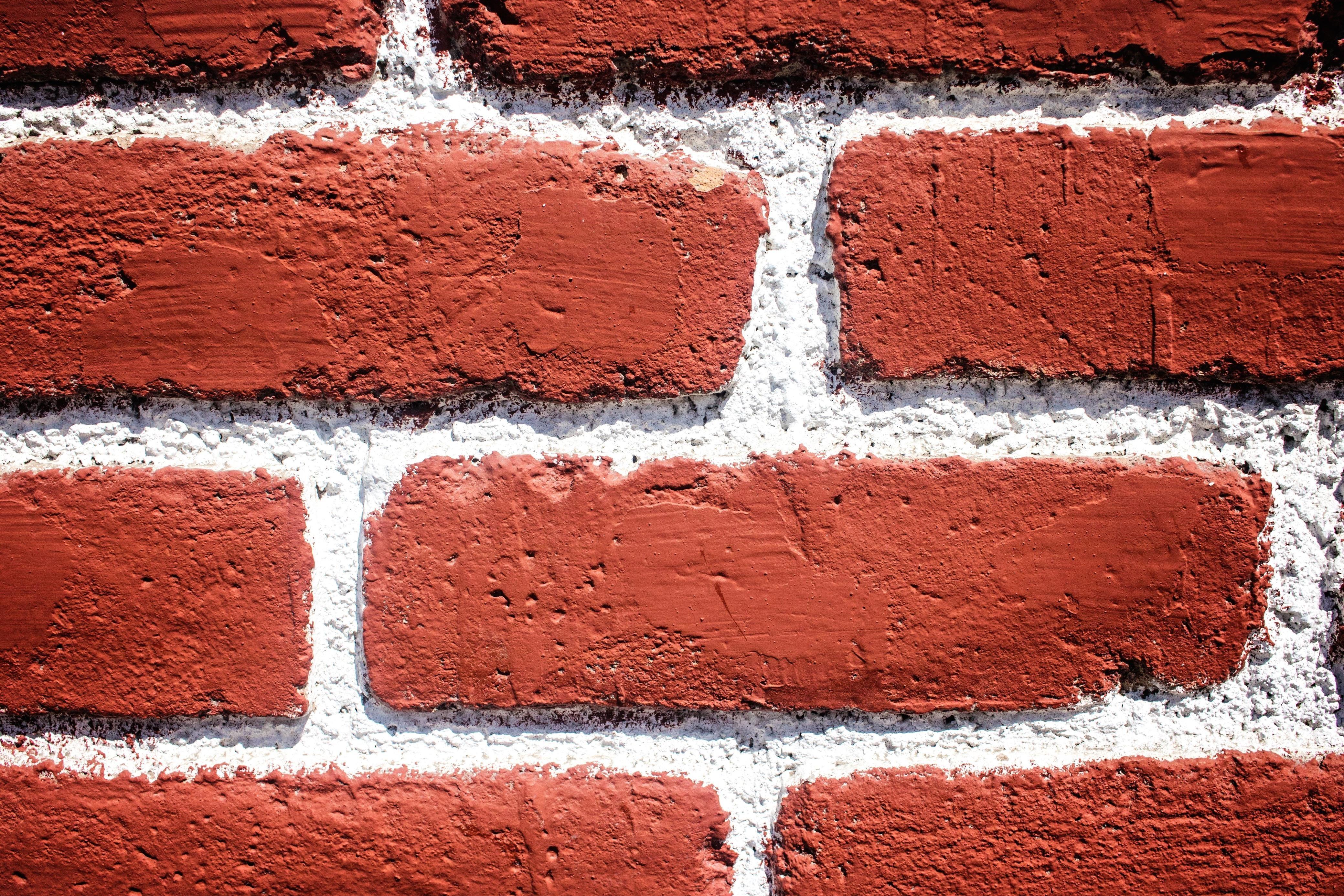 Mur En Brique Rouge image libre: mur, brique, texture, rouge, blanc
