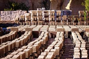벽돌, 콘크리트, 건축, 건설, 텍스처
