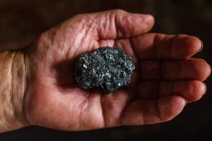 kamień, węgla, tekstura, mineralne, ręka, skały