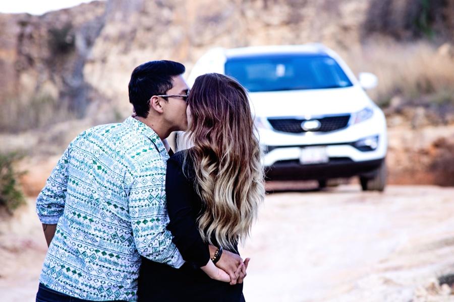 мъж, жена, кола, любов, романтика