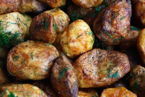 Pomme de terre, cuit, nourriture, épices, déjeuner, alimentation