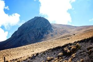 mountain, sky, slope, rock, sky, landscape