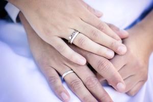Рука, чоловік, жінка, кільце, весілля, весілля, любов