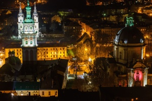 church, dome, christianity, religion, city, architecture, night