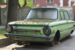 car, rust, vehicle, wreck, dirty, street