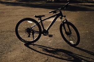 cykel, skugga, rekreation, sport, asfalt, solen