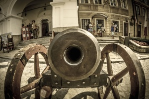 history, cannon, decoration, building, architecture, people, tourism