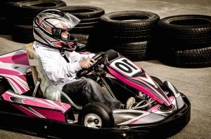 guma, karting, vozila, brzinu, vozač, kaciga, sport