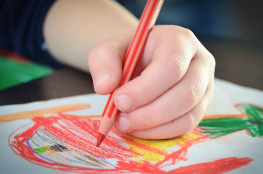 pencil, color, kid, drawing, paper, creativity