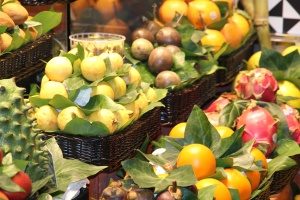 fruit, orange, basket, market, leaf, fresh, food