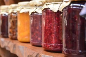 Jar, mat, søt, glass, mat, ernæring