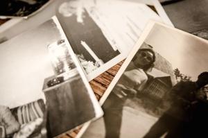 foto, retro, fotopapier, tabel