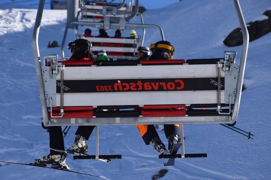 bench, ski lift, skiing, people, winter, tourism, recreation
