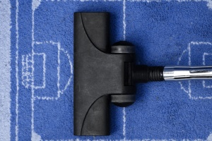 carpet, vacuum cleaner, cleaning, football, fabric