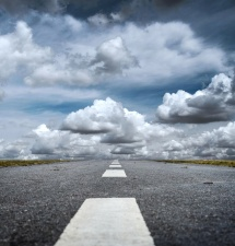 road, asphalt, sky, cloud, transport