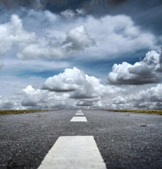 road, asphalt, sky, cloud, transport