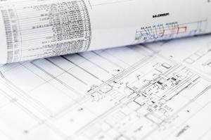 paper, document, plan, pencil, business, construction, office, project, design, blueprint