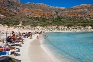 Montagne, mer, eau, sable, personnes, vacances, tourisme