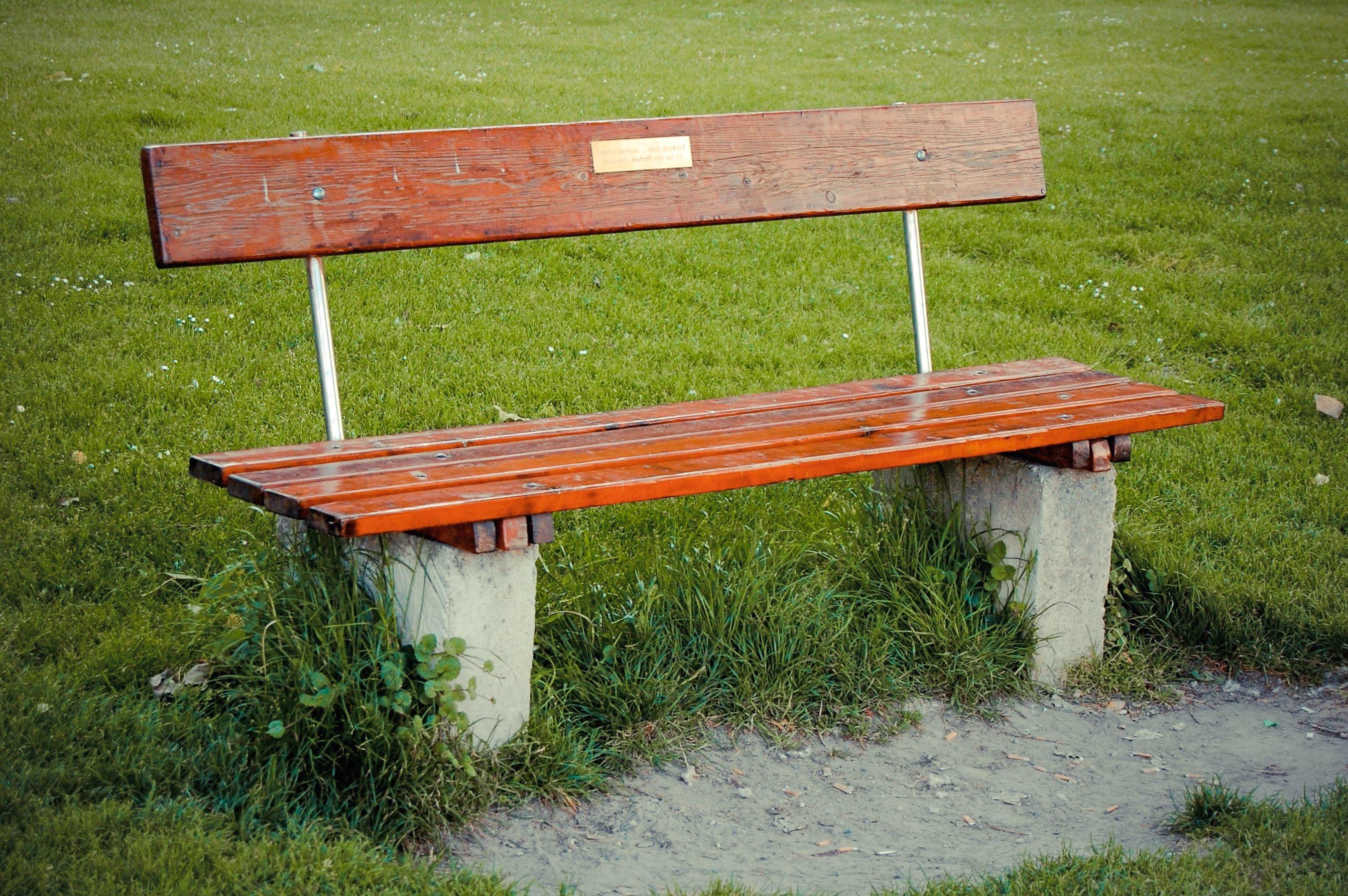 Meget Gratis billede: bænk, beton, græs, planke, træ RL98