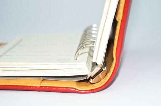spiral, notebook, paper, note, metal
