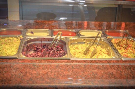 Légumes, nourriture, régime, organique, restaurant, bol, métal, cuisine