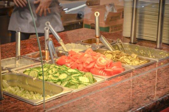 Salade, légumes, tomate, concombre, nourriture, organique, nutrition