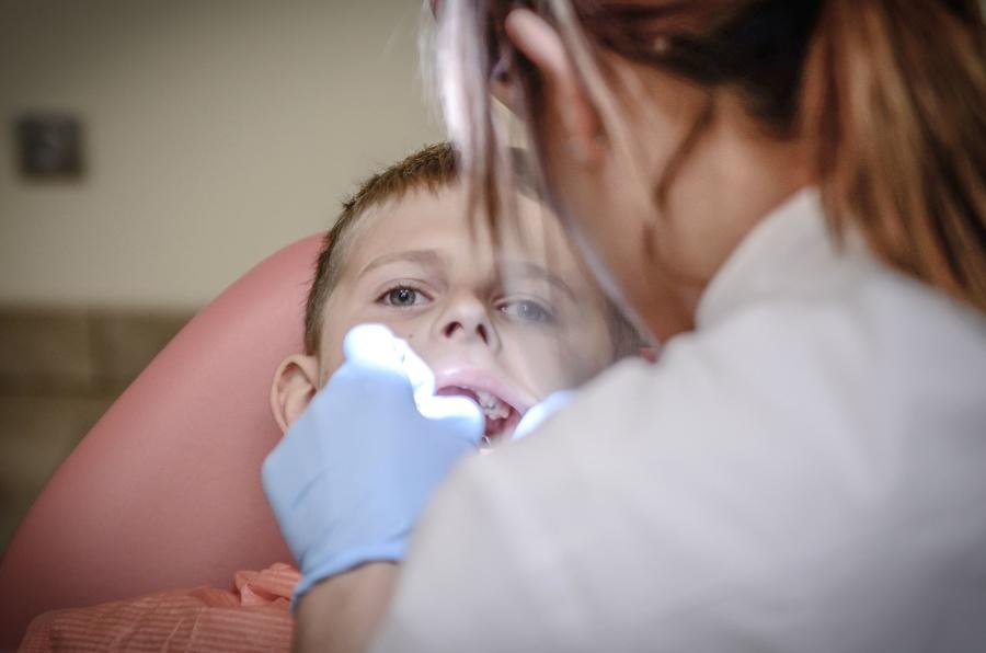 dijete, zubar, žena, higijena, lijek, doktor, zdravlje