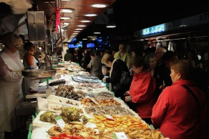 mensen, voedsel, markt, voeding, biologisch, vers