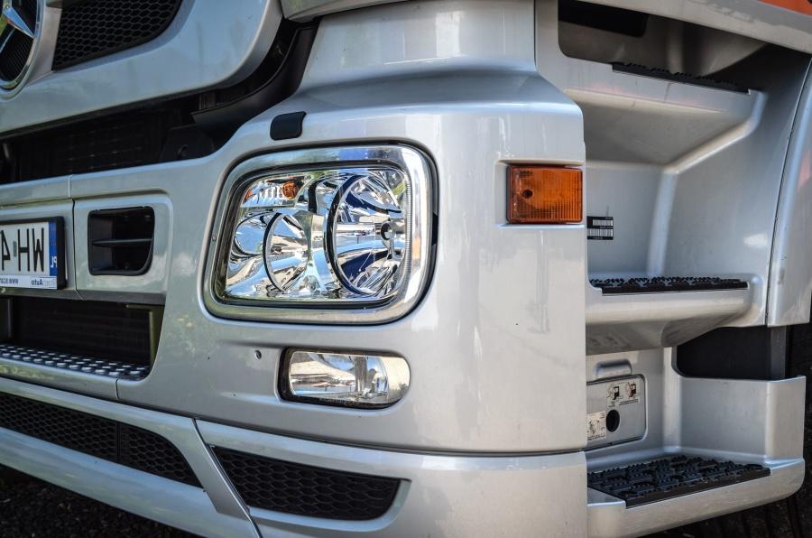 Faro, camión, metal, vehículo, transporte, espejo