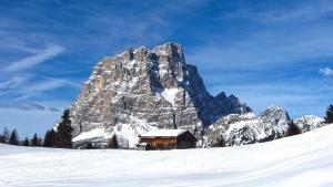 mountain, snow, landscape, glacier, sky, peak, winter, travel